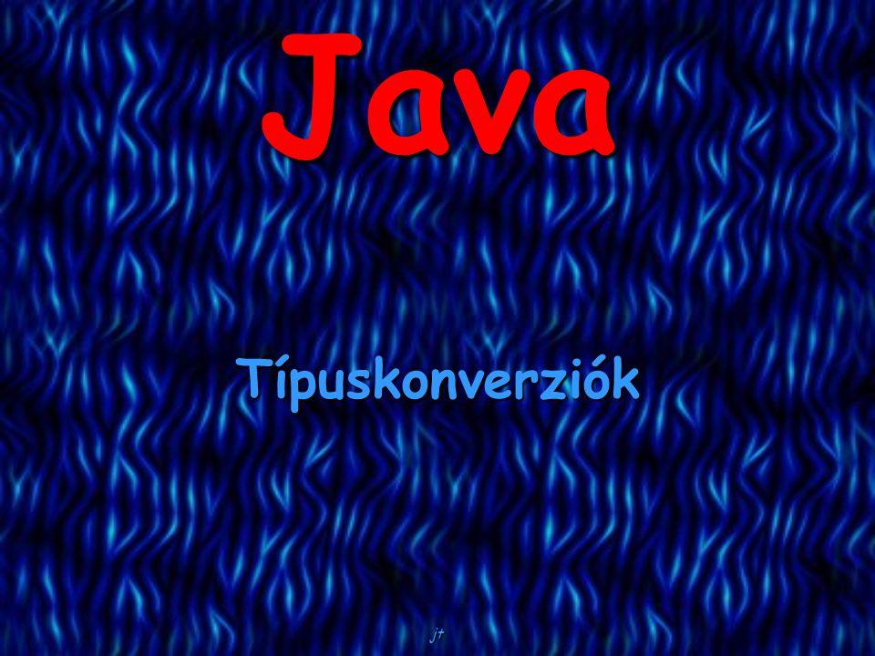 Java Típuskonverziók