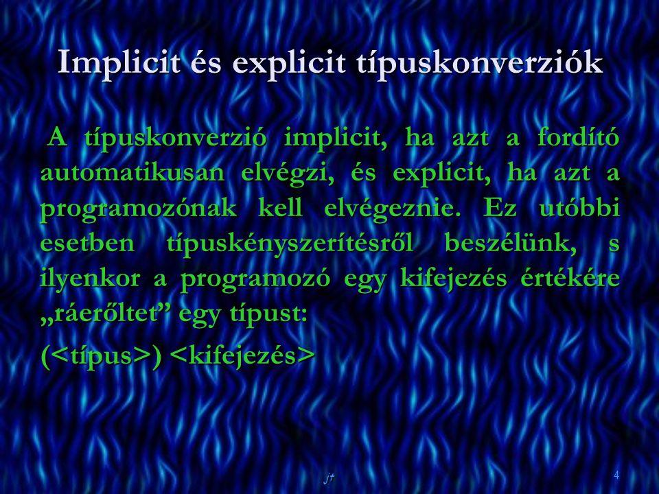 Implicit és explicit típuskonverziók