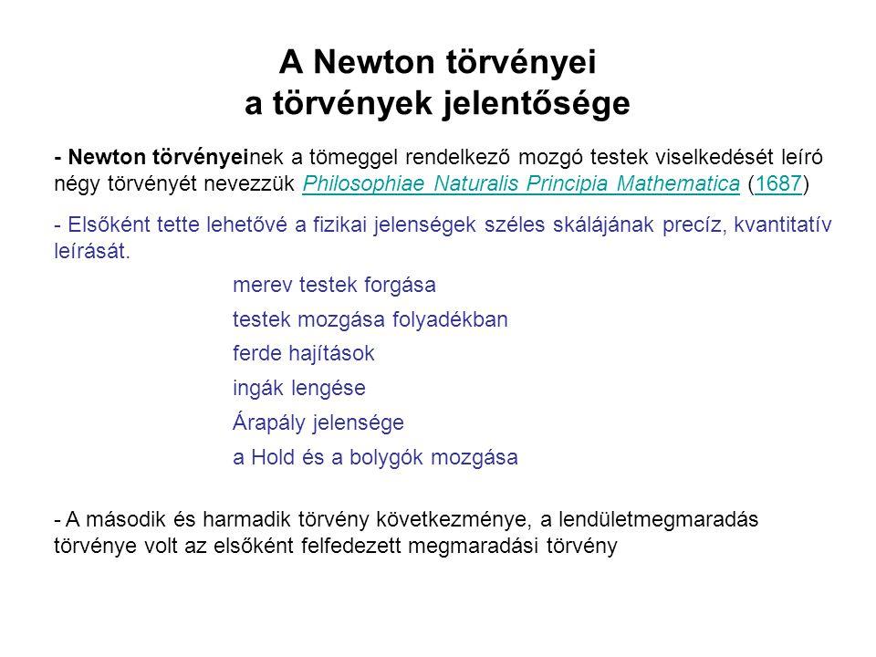 A Newton törvényei a törvények jelentősége