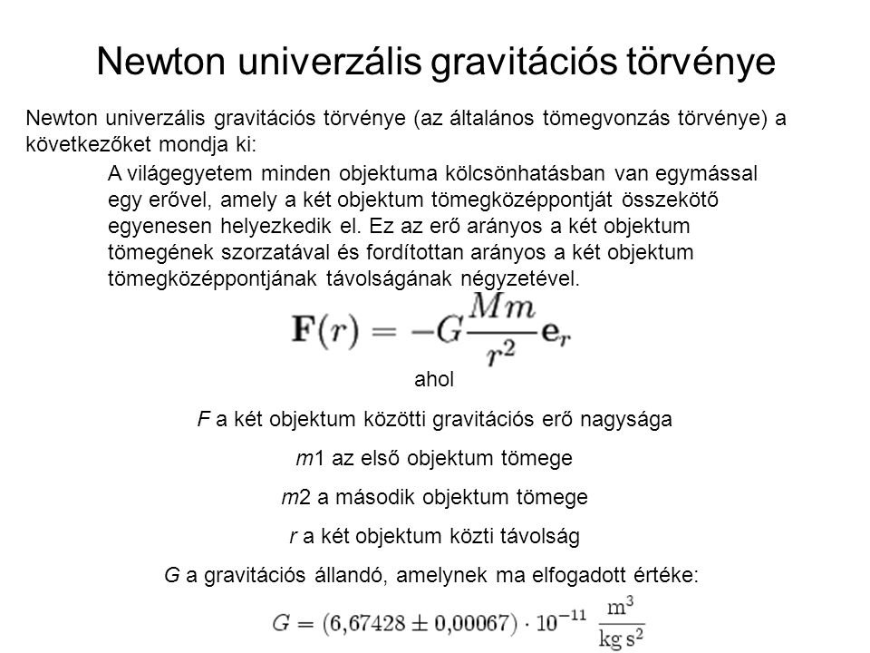 Newton univerzális gravitációs törvénye