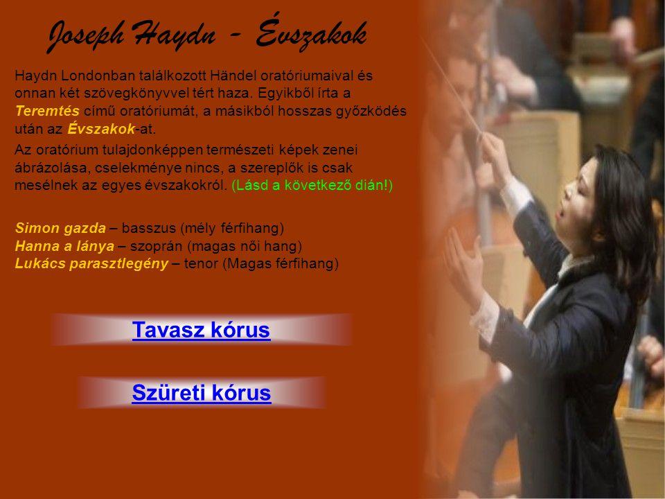 Joseph Haydn - Évszakok