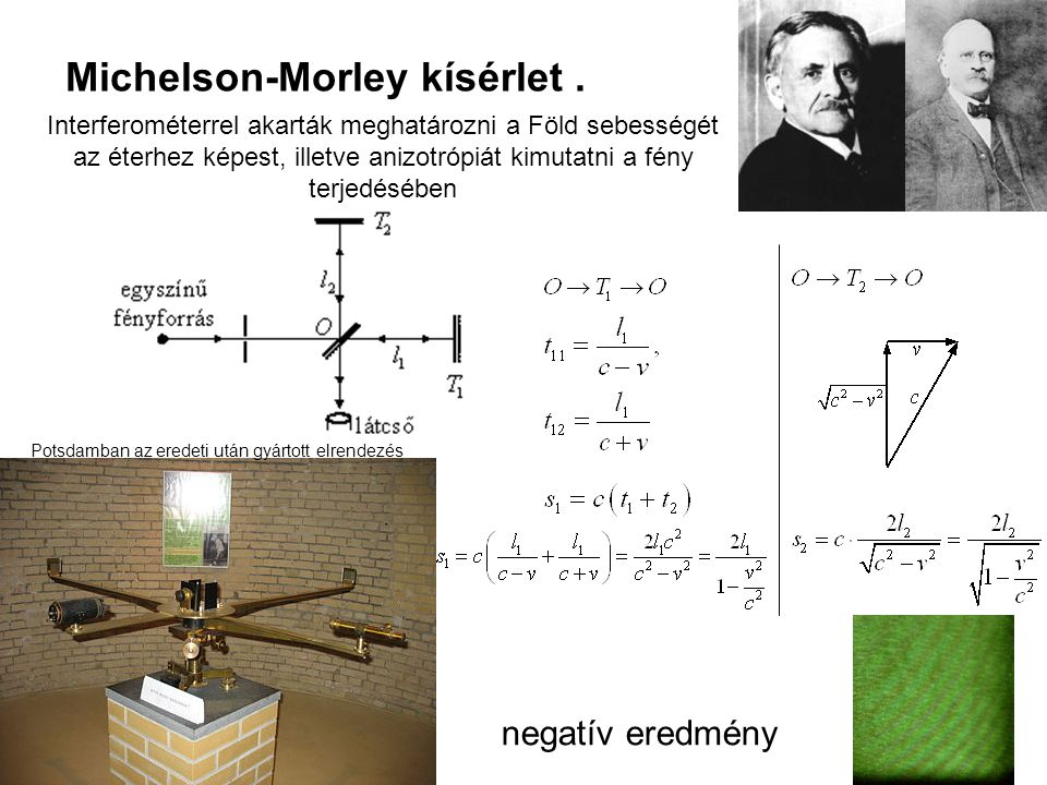 Michelson-Morley kísérlet .