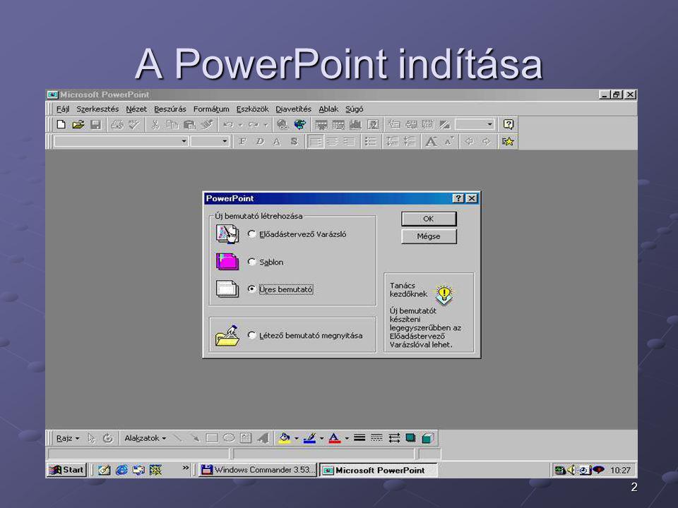 A PowerPoint indítása