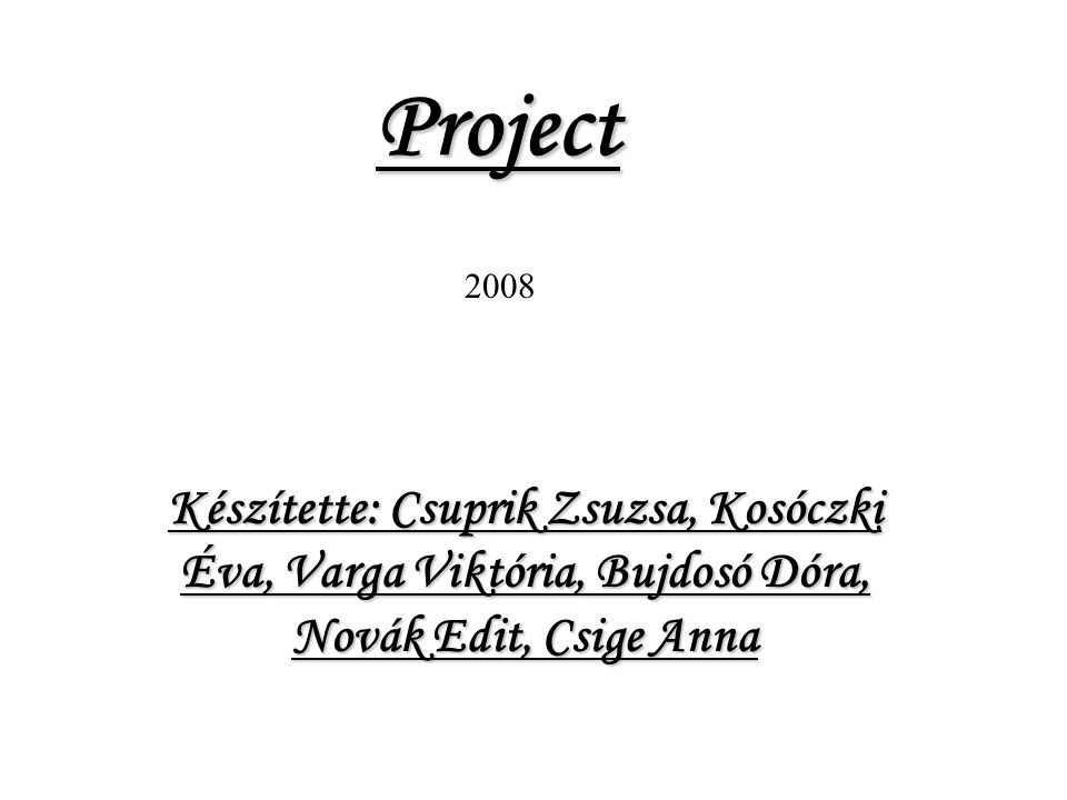Project 2008.