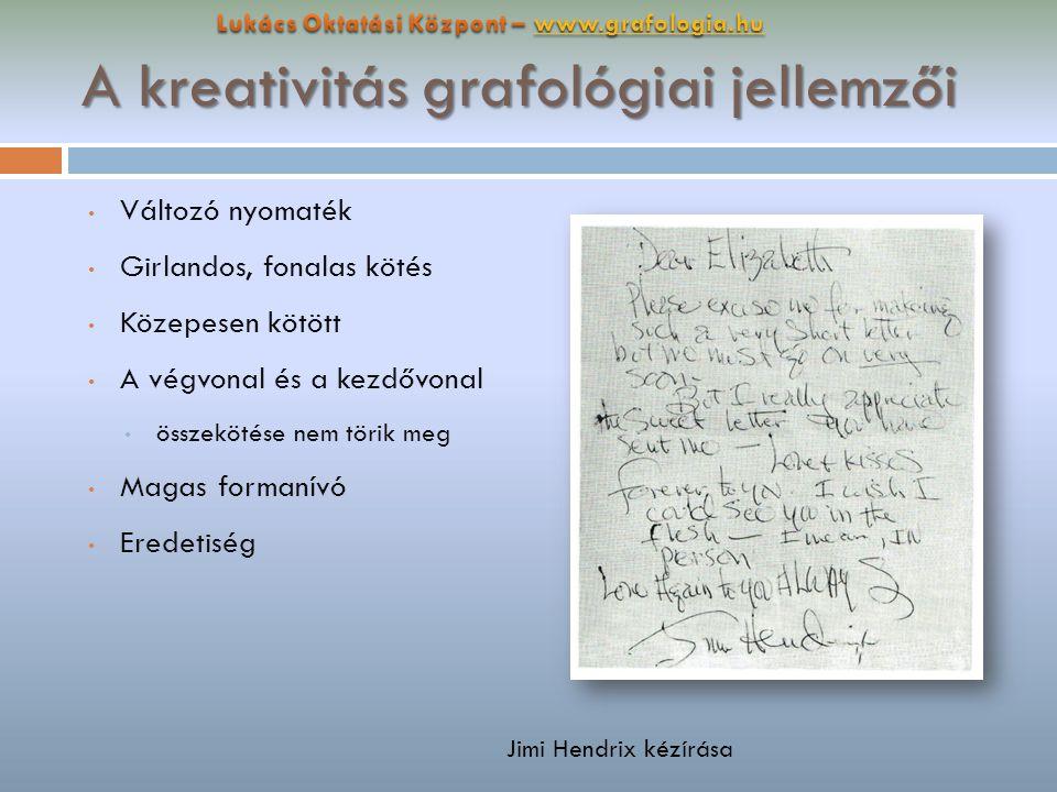 A kreativitás grafológiai jellemzői