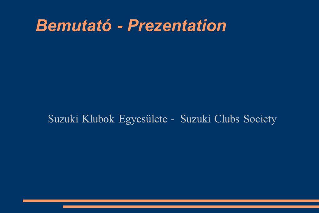 Bemutató - Prezentation