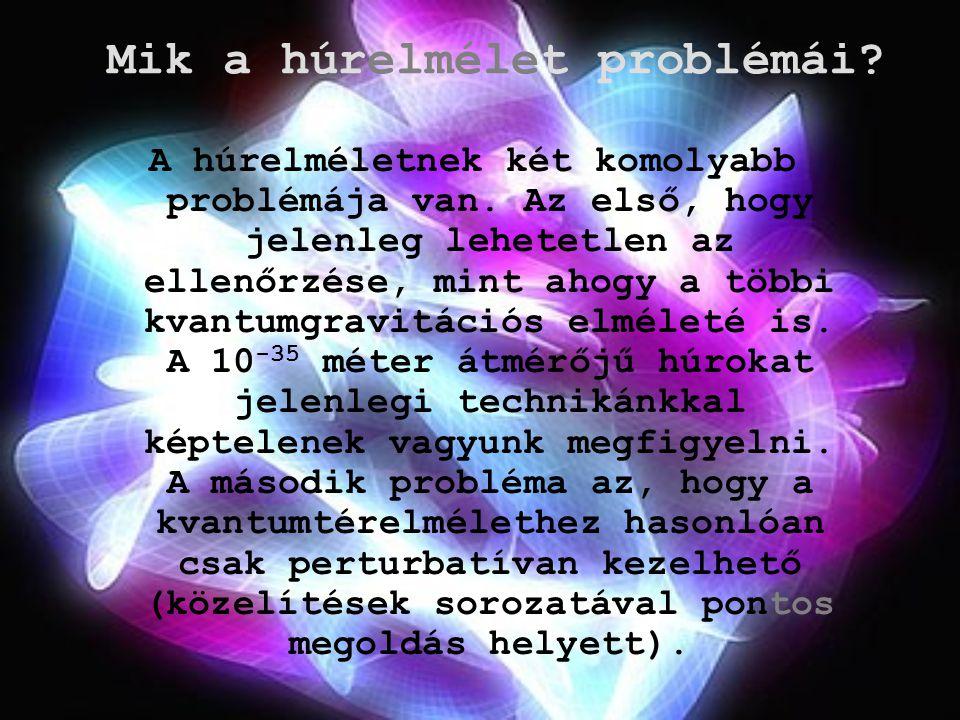 Mik a húrelmélet problémái