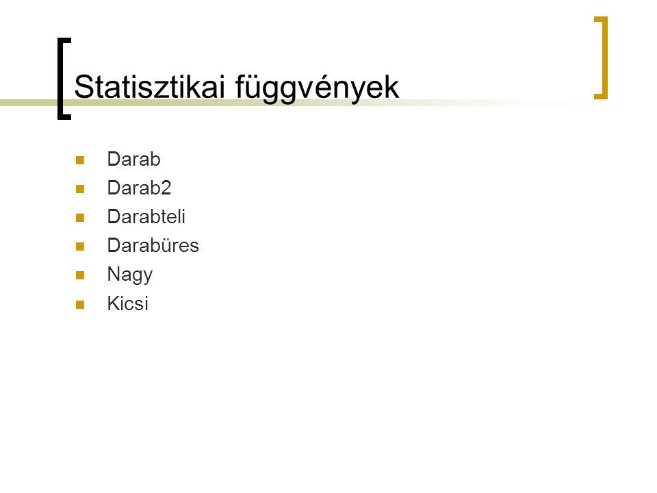 Statisztikai függvények