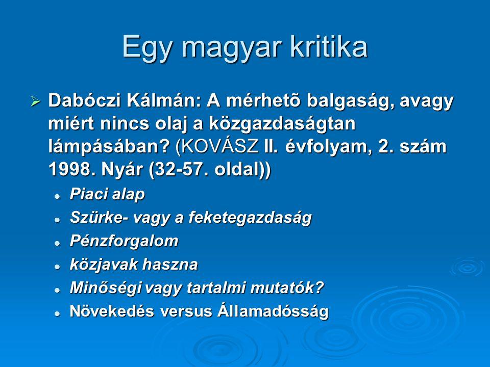 Egy magyar kritika