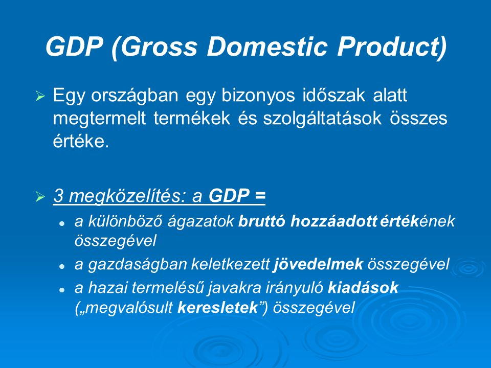 GDP (Gross Domestic Product)