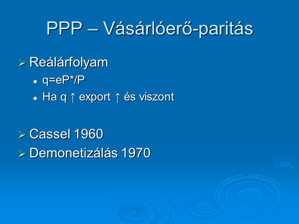 PPP – Vásárlóerő-paritás