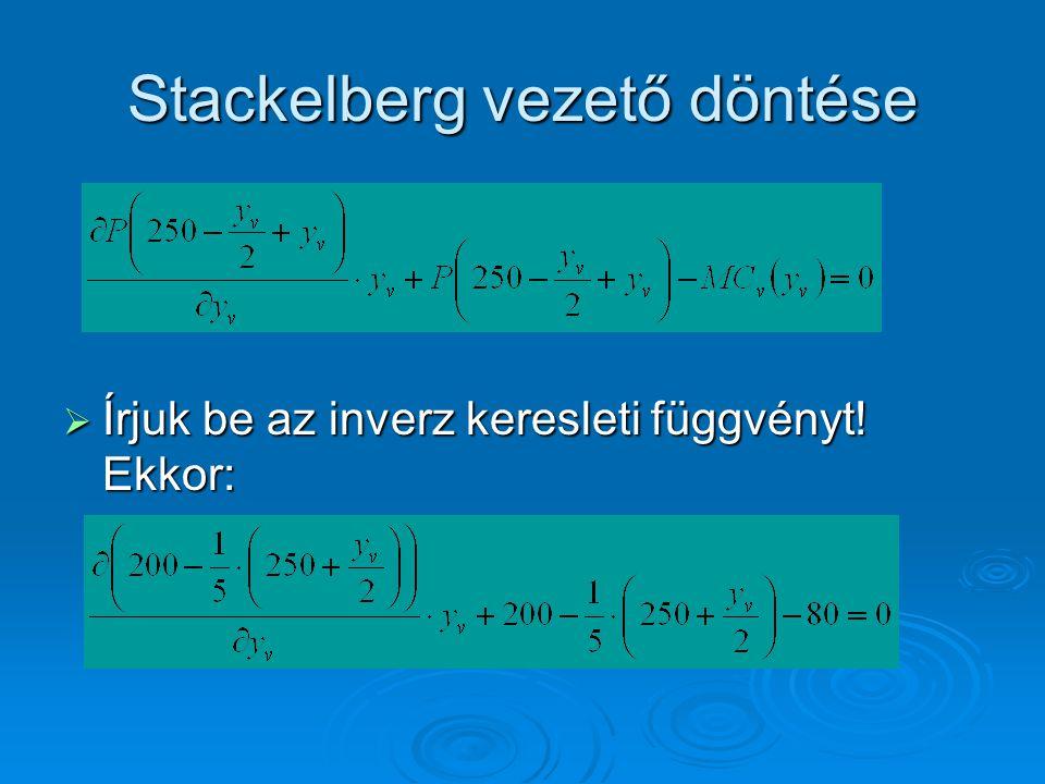 Stackelberg vezető döntése