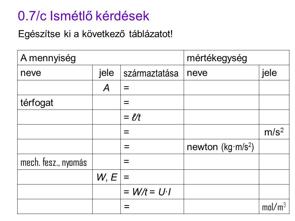 0.7/c Ismétlő kérdések mech. fesz., nyomás származtatása