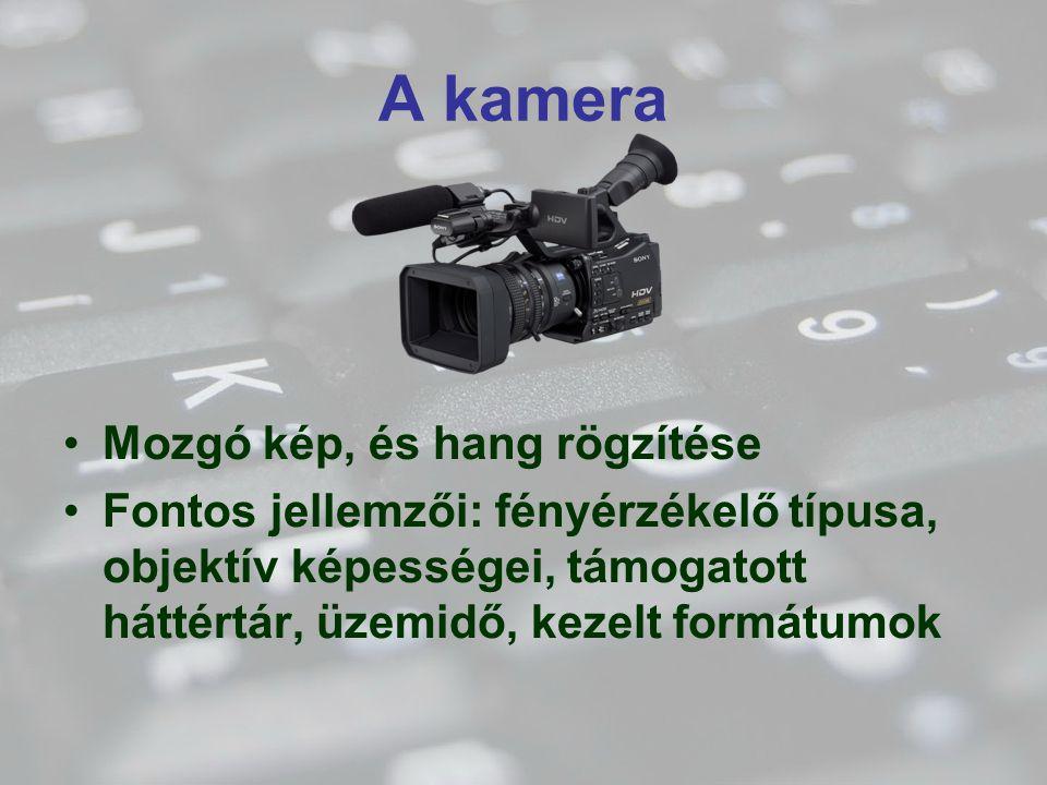 A kamera Mozgó kép, és hang rögzítése