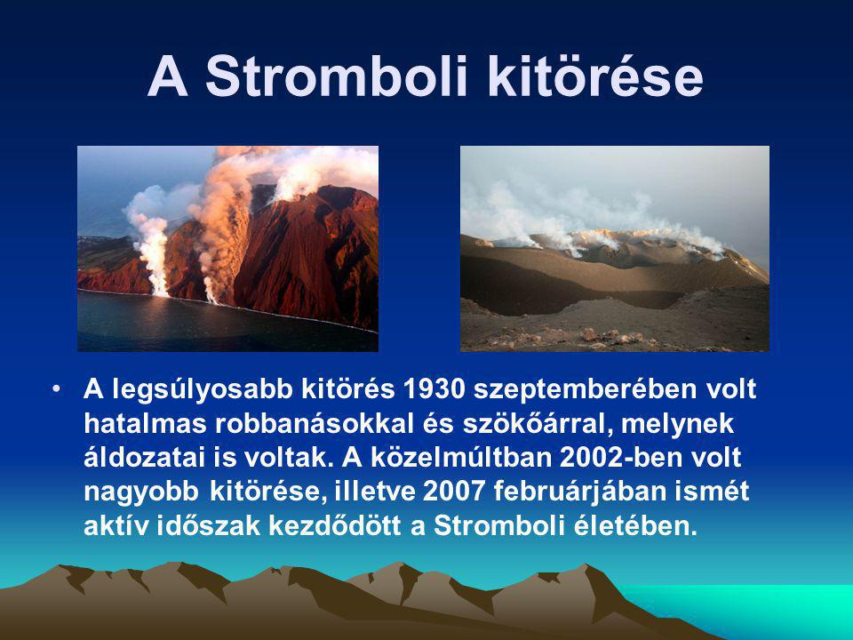 A Stromboli kitörése