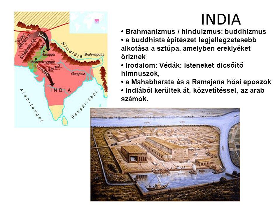 INDIA • Brahmanizmus / hinduizmus; buddhizmus