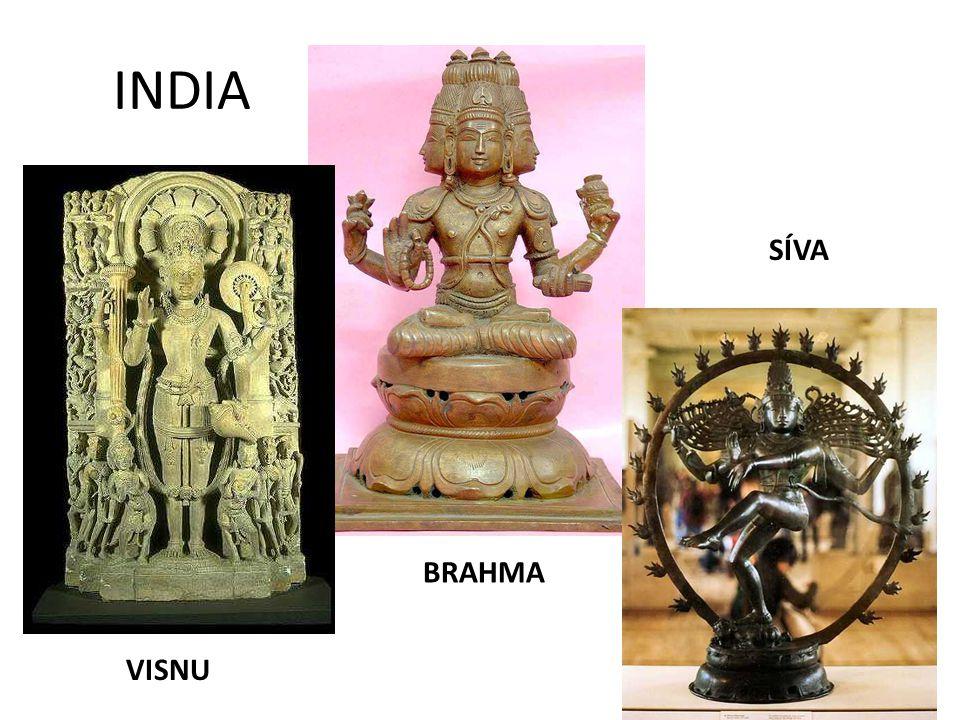 INDIA SÍVA BRAHMA VISNU