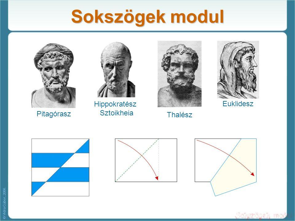 Sokszögek modul Pitagórasz Hippokratész Sztoikheia Thalész Euklidesz