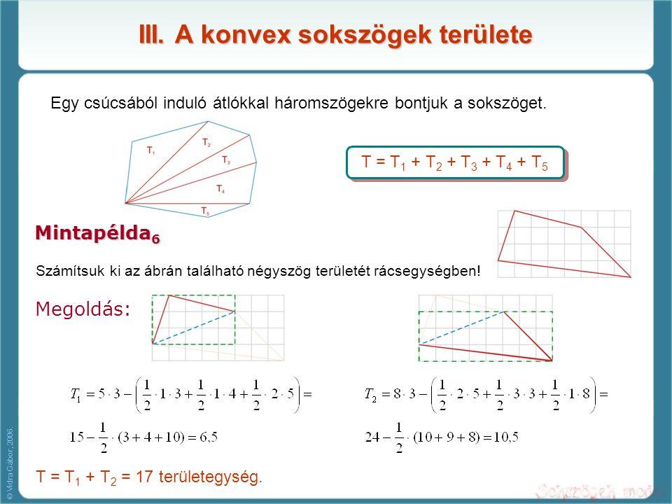 III. A konvex sokszögek területe