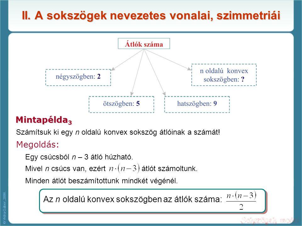 II. A sokszögek nevezetes vonalai, szimmetriái