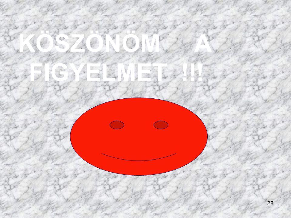 KÖSZÖNÖM A FIGYELMET !!!