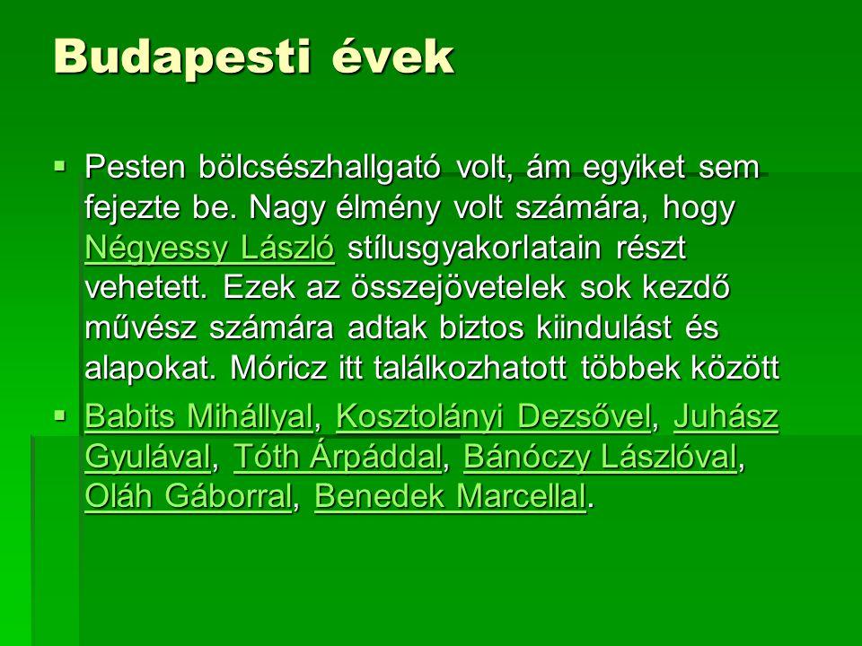 Budapesti évek