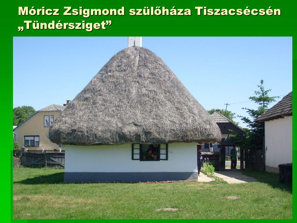 """Móricz Zsigmond szülőháza Tiszacsécsén """"Tündérsziget"""
