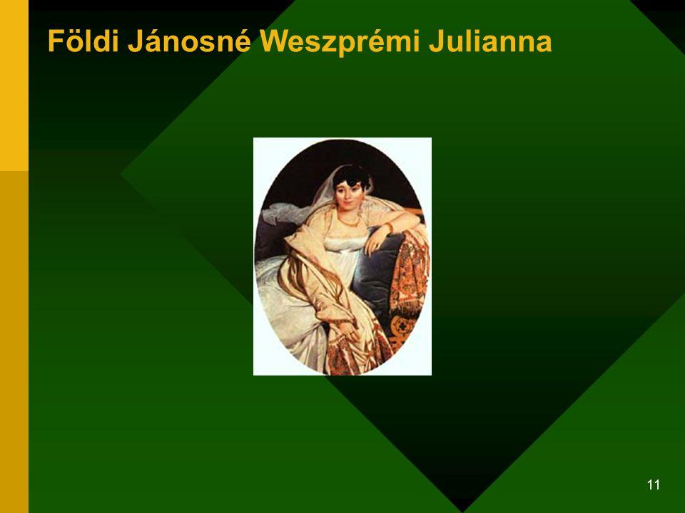 Földi Jánosné Weszprémi Julianna