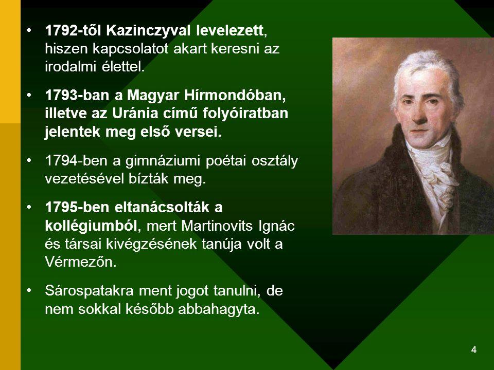1794-ben a gimnáziumi poétai osztály vezetésével bízták meg.