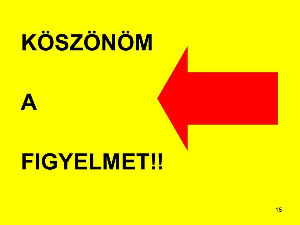 KÖSZÖNÖM A FIGYELMET!!