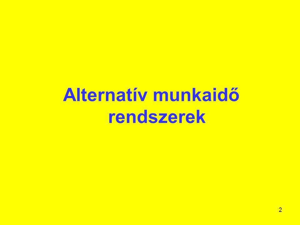 Alternatív munkaidő rendszerek