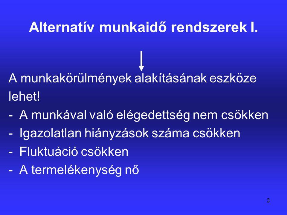 Alternatív munkaidő rendszerek I.