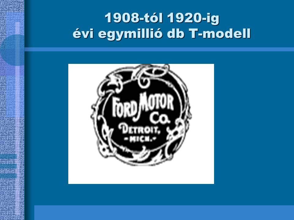 1908-tól 1920-ig évi egymillió db T-modell