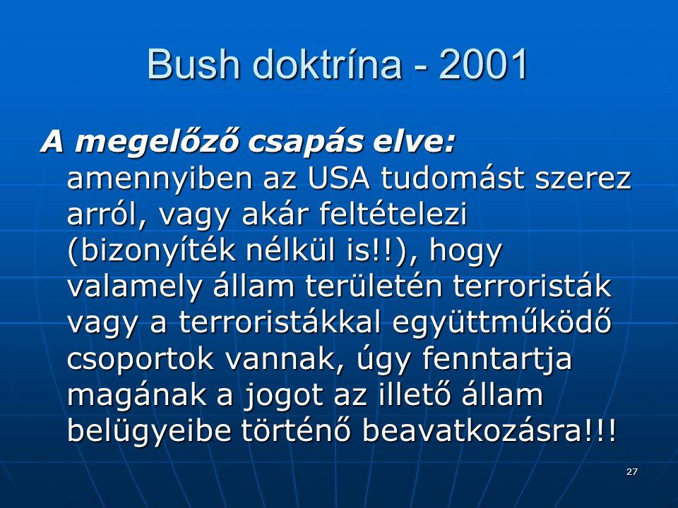 Bush doktrína - 2001