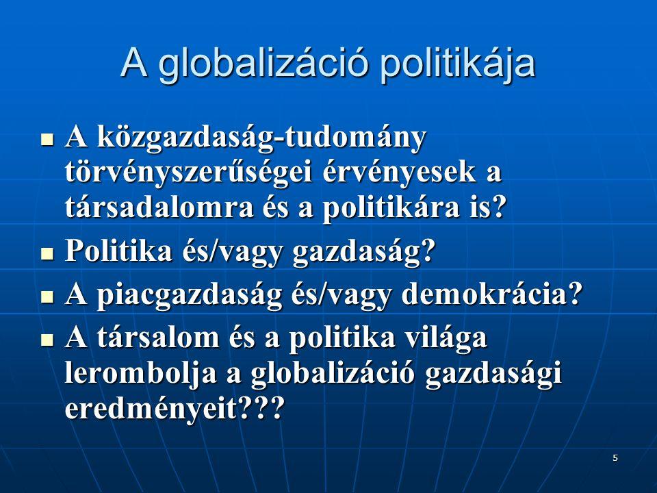 A globalizáció politikája