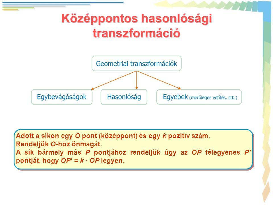 Középpontos hasonlósági transzformáció