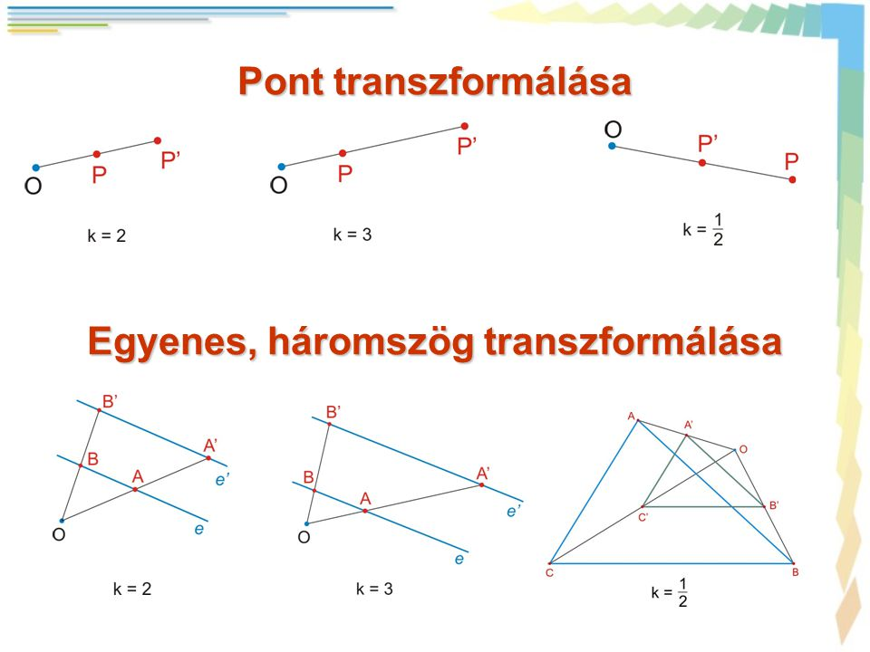Egyenes, háromszög transzformálása