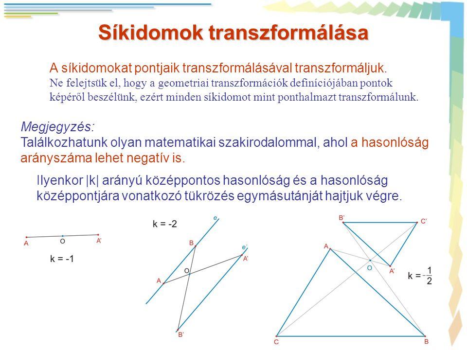 Síkidomok transzformálása