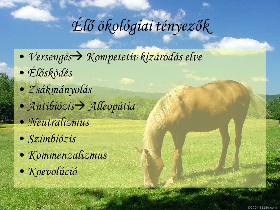Élő ökológiai tényezők