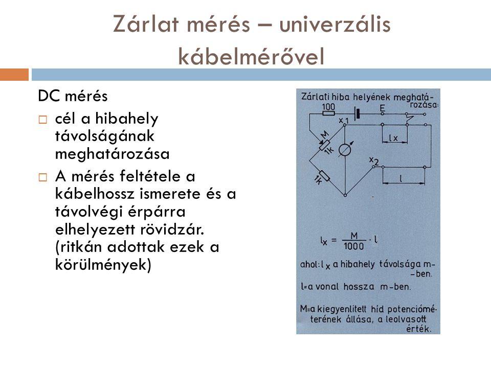 Zárlat mérés – univerzális kábelmérővel
