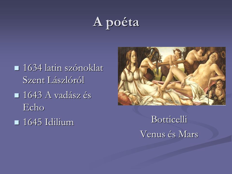 Botticelli Venus és Mars