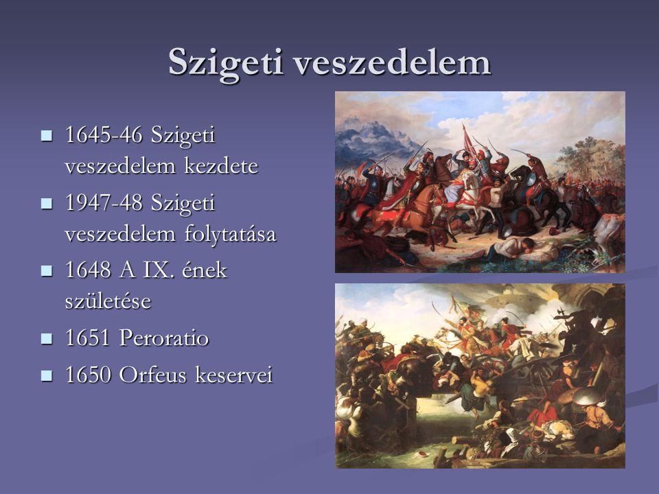 Szigeti veszedelem 1645-46 Szigeti veszedelem kezdete