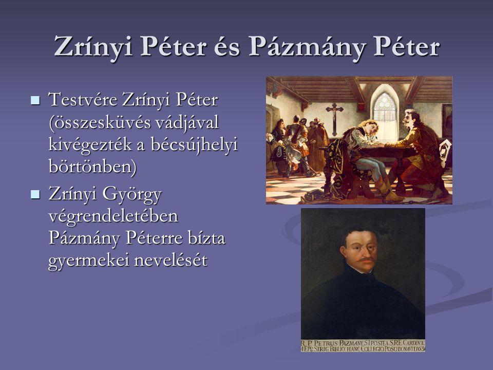 Zrínyi Péter és Pázmány Péter