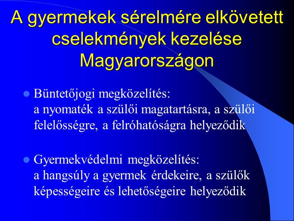 A gyermekek sérelmére elkövetett cselekmények kezelése Magyarországon