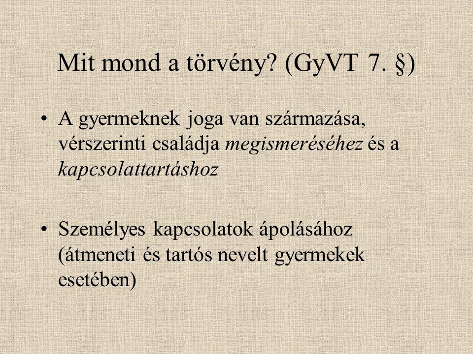 Mit mond a törvény (GyVT 7. §)