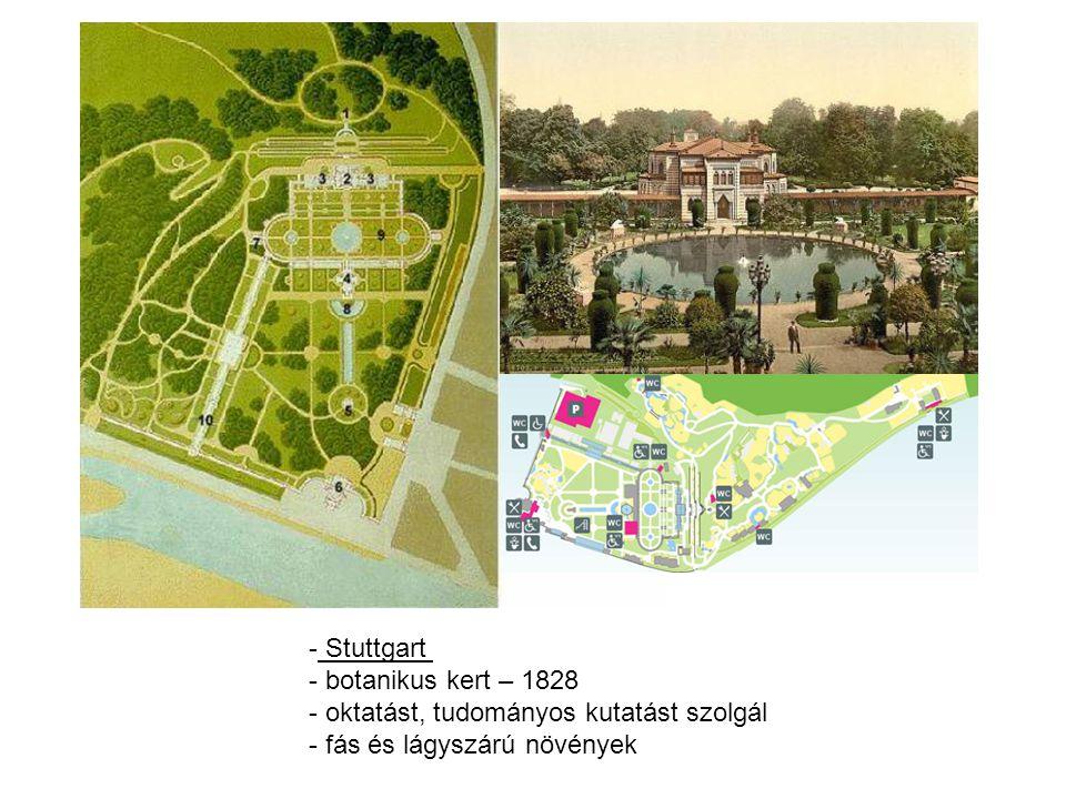 Stuttgart botanikus kert – 1828 oktatást, tudományos kutatást szolgál fás és lágyszárú növények