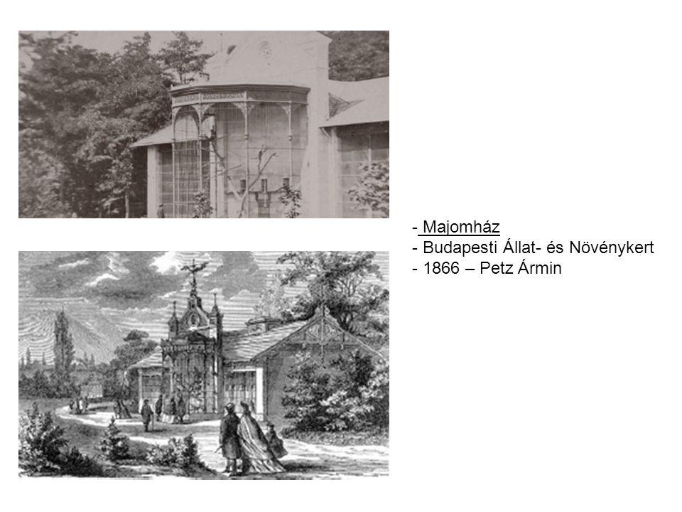 Majomház Budapesti Állat- és Növénykert 1866 – Petz Ármin
