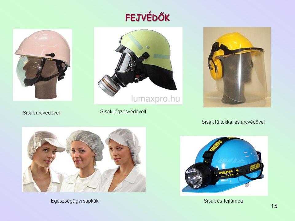 FEJVÉDŐK Sisak légzésvédővell Sisak arcvédővel