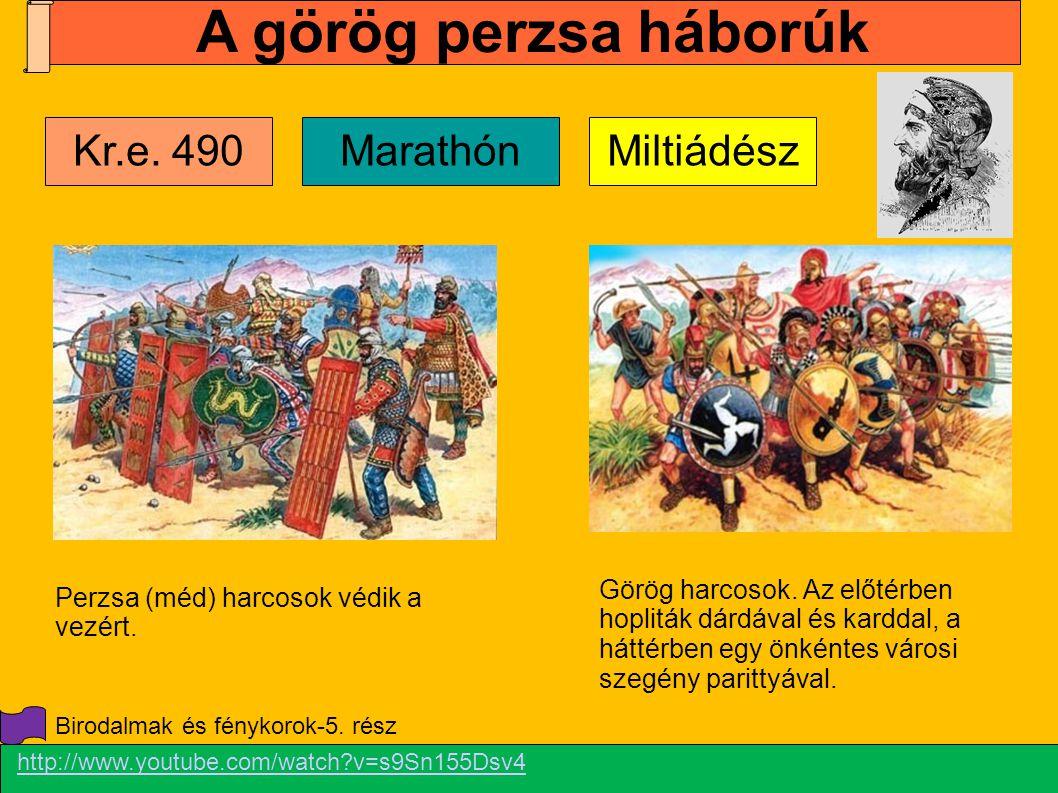 A görög perzsa háborúk Kr.e. 490 Marathón Miltiádész