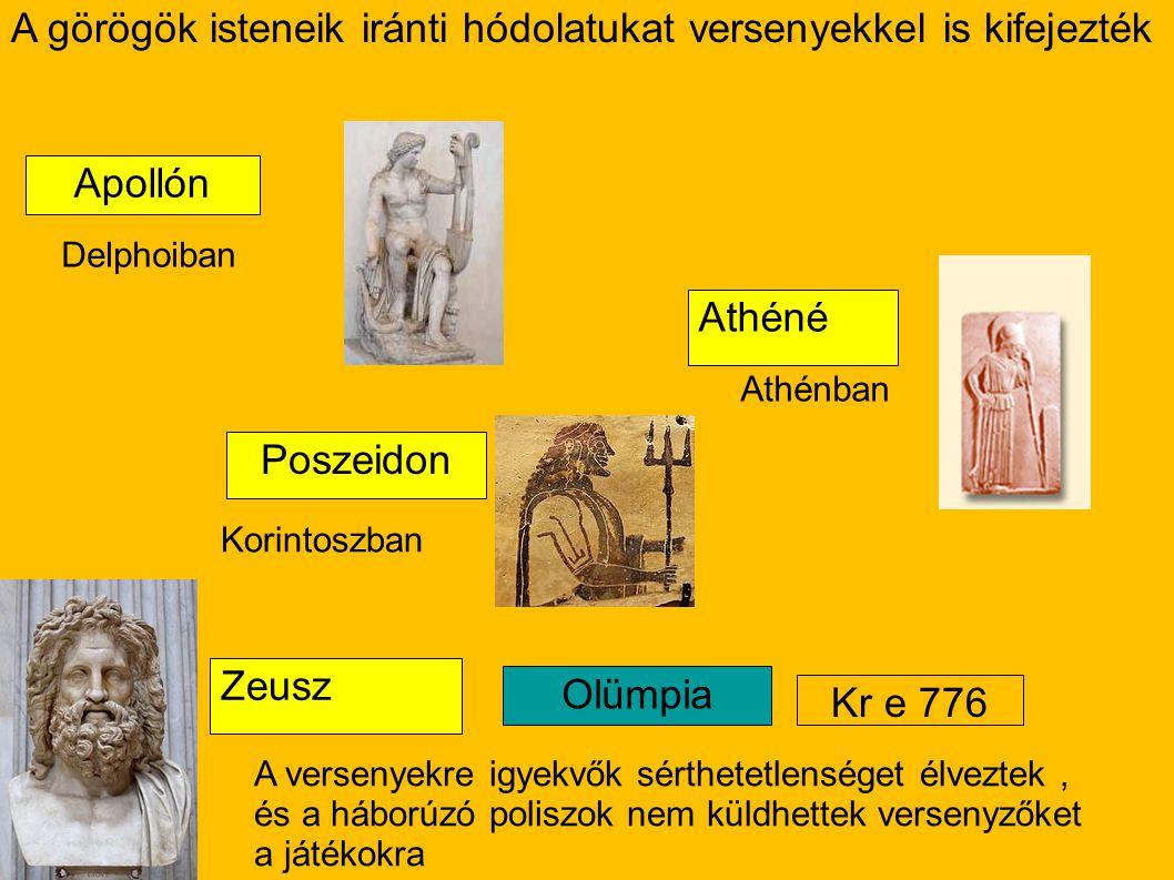 A görögök isteneik iránti hódolatukat versenyekkel is kifejezték